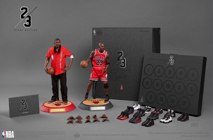 【ENTERBAY】NBAクラシックコレクション: マイケル・ジョーダン ファイナル リミテッドエディション アウェイ