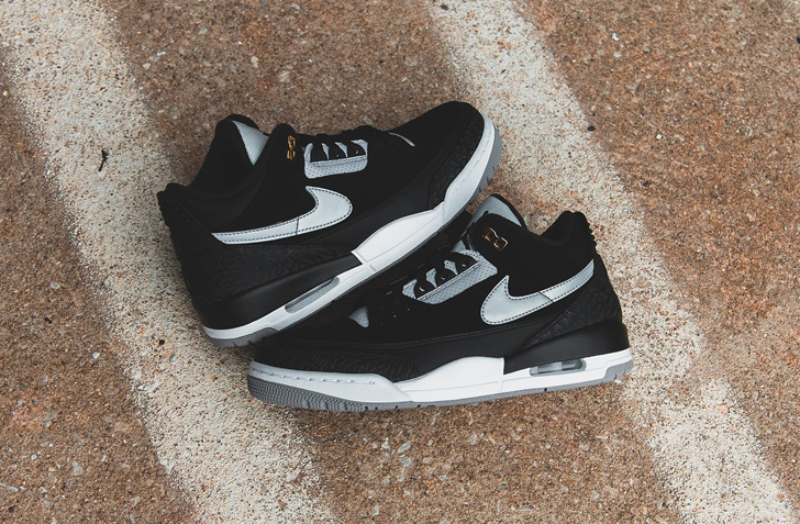 "【8月7日 発売予定】AIR JORDAN RETRO 3 TINKER ""BLACK CEMENT"" (CK4348-007)"