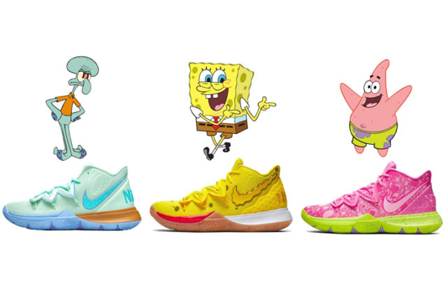 【9月6日 発売予定 】NIKE KYRIE 5 X SPONGEBOB COLLECTION (CJ6950-700,CJ6950-500,CJ6950-300)