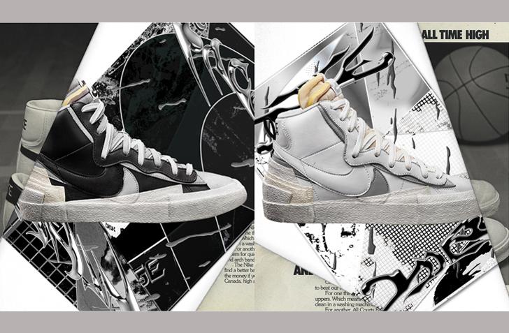 ナイキ X サカイのコラボレーションモデル ブレーザー ミッドが国内10月8日にリリース!