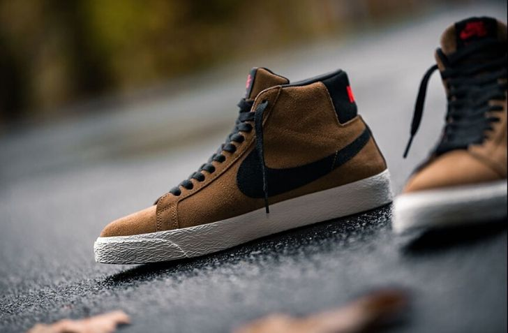 "NIKE SB AIR ZOOM BLAZER MID ""LIGHT BRITISH TAN"" (864349-202)"