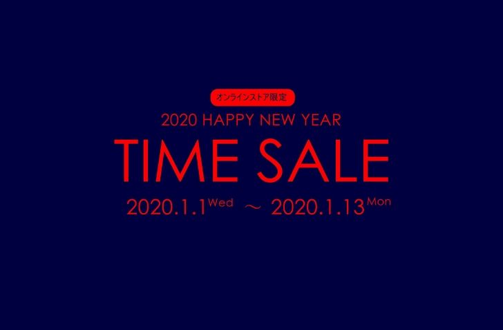1月1日 0:00 スタート BILLY'S ONlINE 2020 HAPPY NEW YEAR SALE