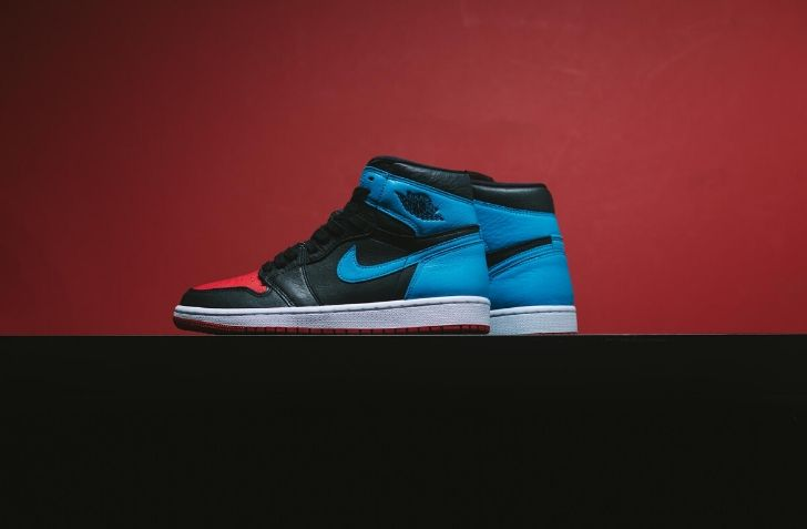 "2月14日 発売予定 WMNS AIR JORDAN 1 ""POWDER BLUE/GYM RED"" (CD0461-046)"