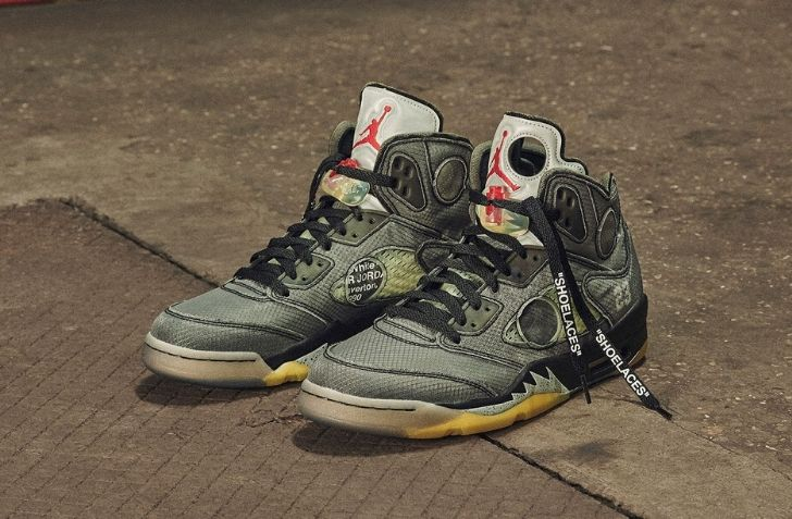 2月15日 発売予定 OFF-WHITE X AIR JORDAN 5 RETRO (CT8480-001)