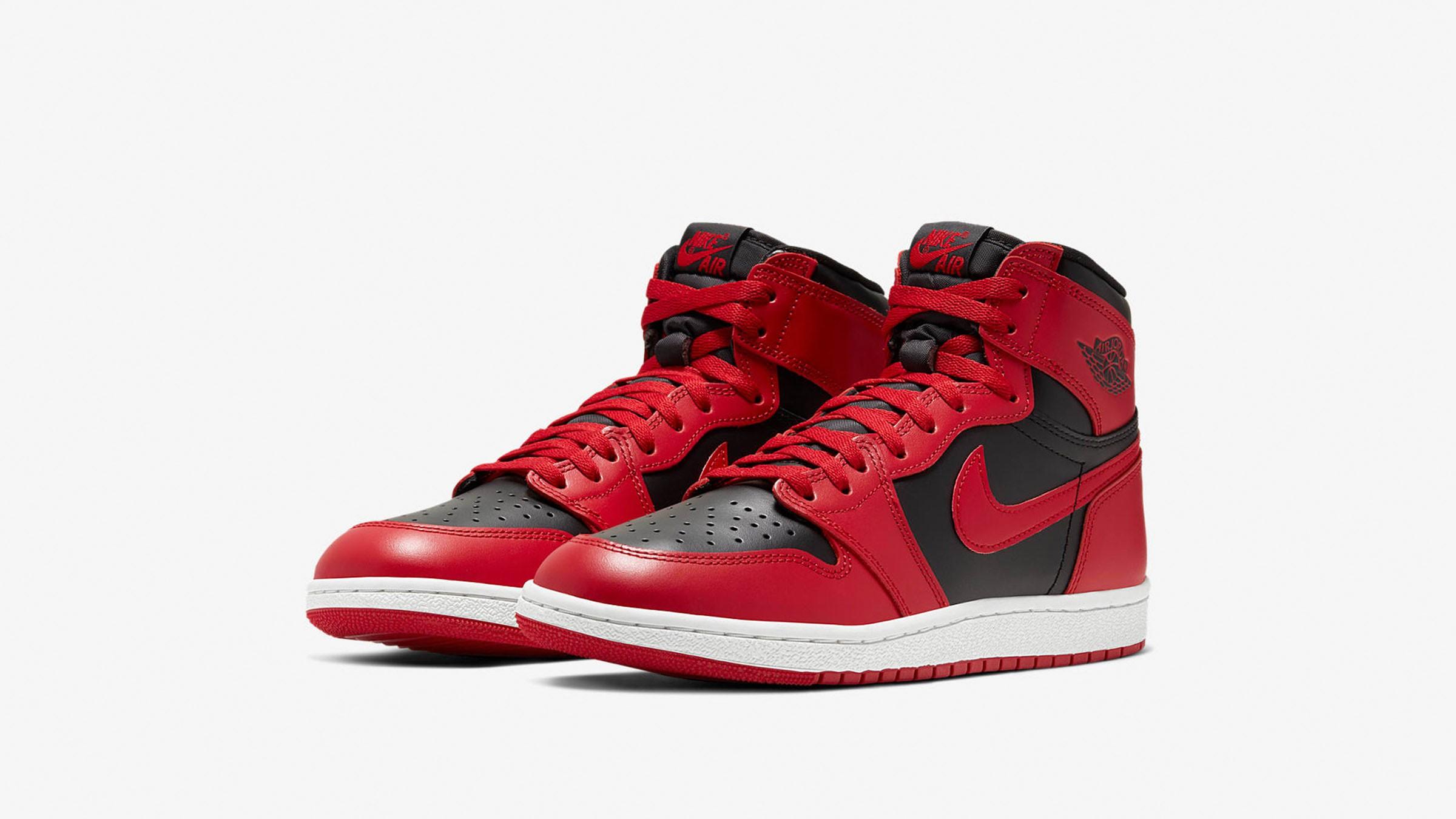 2月8日 発売予定 AIR JORDAN 1 HIGH '85 VARSITY RED & BLACK (BQ4422-600)