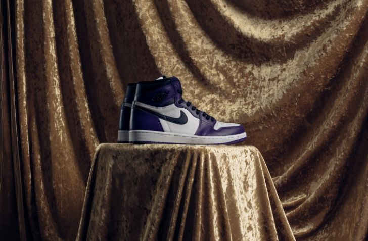 "4月18日 発売予定 AIR JORDAN 1 RETRO  HIGH OG ""COURT PURPLE"" (555088-500)"