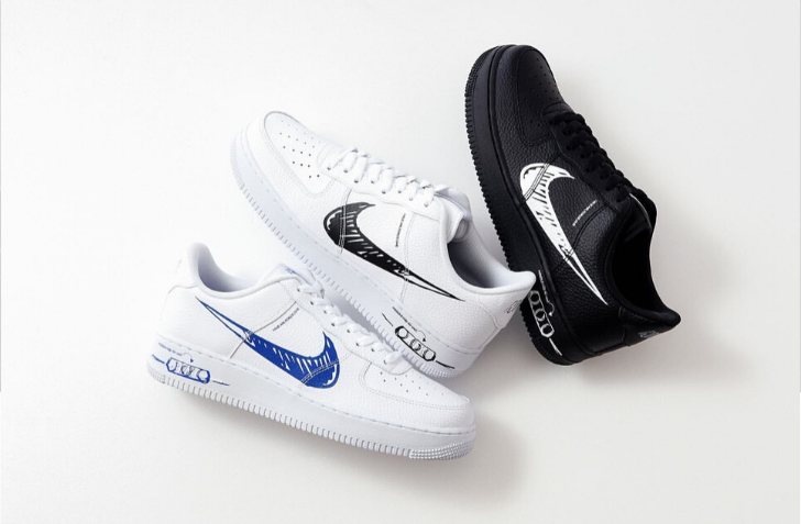 "4月24日 発売予定 NIKE AIR FORCE 1 LOW LV8 UTILITY ""SKETCH PACK """