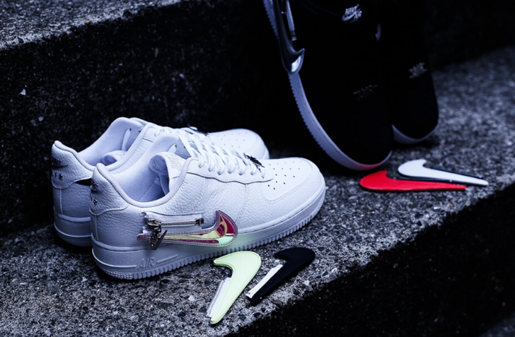 "4月24日 発売予定 NIKE AIR FORCE 1 '07 PRM ""ZIPPER SWOOSH"" (CW6558-001,CW6558-100)"