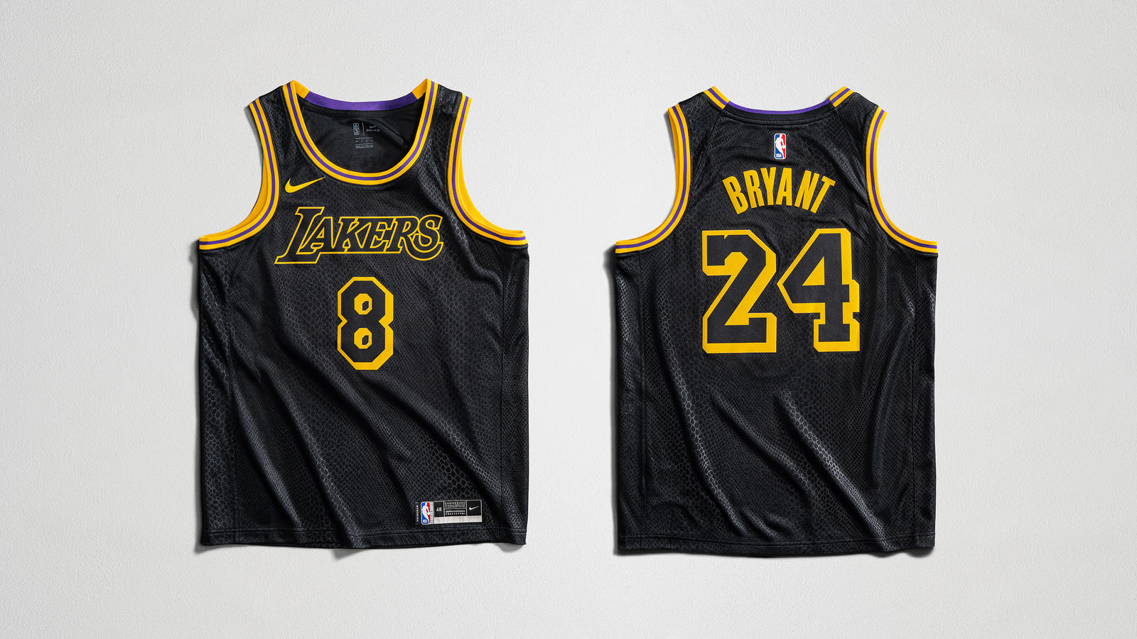 8月24日 発売予定 LAKERS EDITION JERSEY BLACK MAMBA (DJ0471-010)
