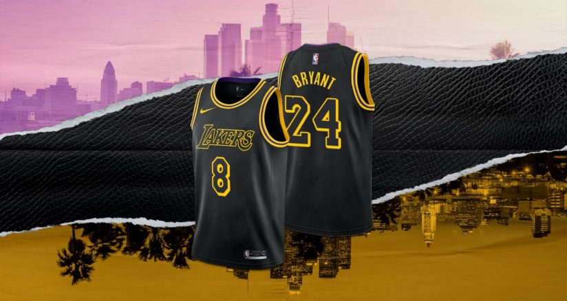 8月28日 発売予定 LAKERS EDITION JERSEY BLACK MAMBA (DJ0471-010)