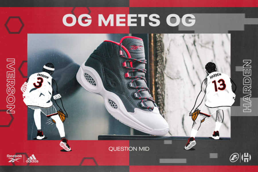 8月7日 発売予定 IVERSON X HARDEN REBBOK QUESTION MID OG MEETS OG (FZ1365)