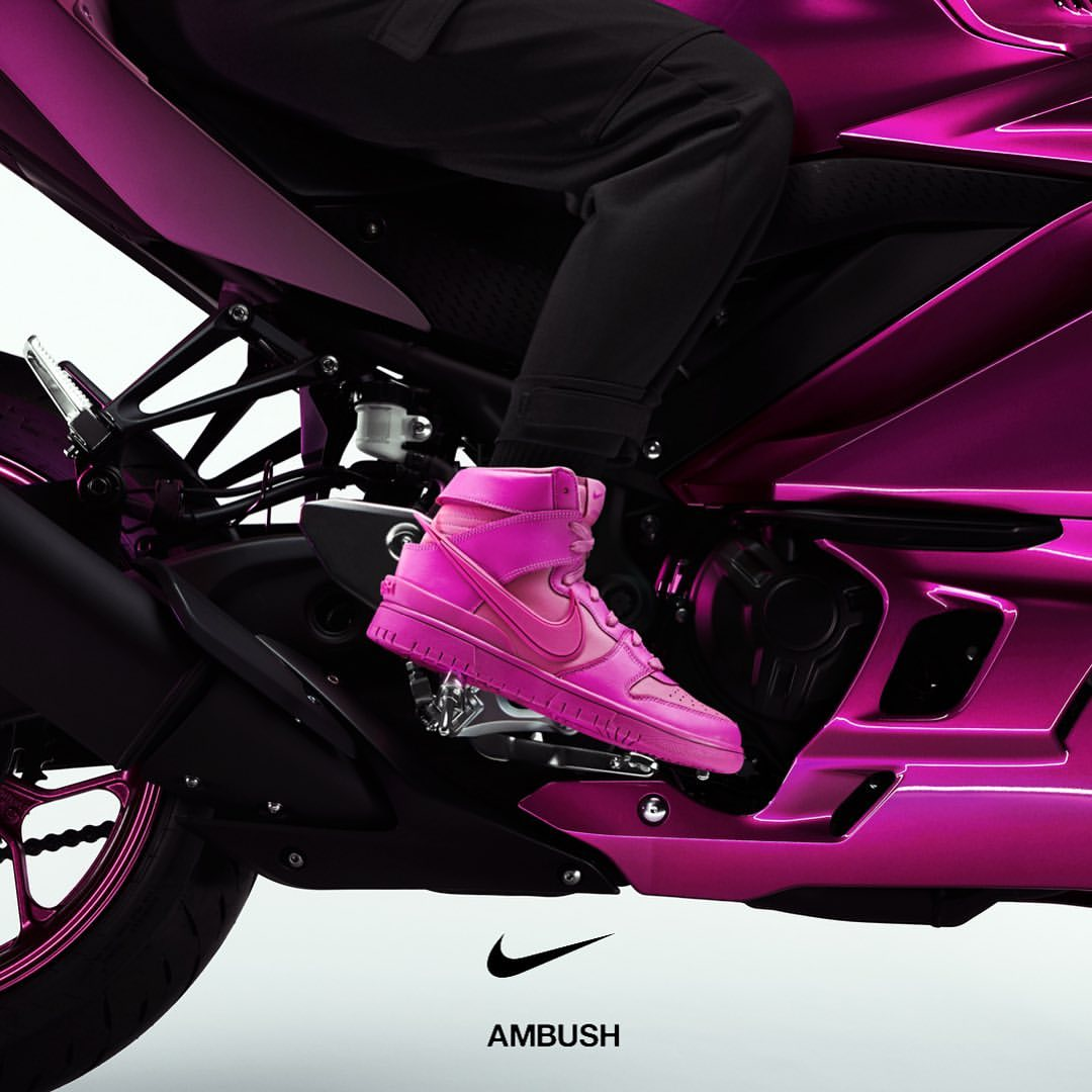 2月4日 発売予定 NIKE DUNK HIGH X AMBUSH COSMIC FUCHSIA